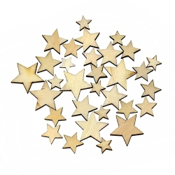 Wooden Stars (100pcs)