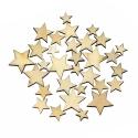 Wooden Mini Stars (100pcs)