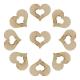 Wooden Hollow Hearts (100pcs)