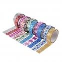 Glitter Tape, Patterned (10 pack)