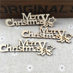 Wooden Merry Christmas (3pcs)