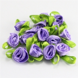 Ribbon Roses - Purple (50pcs)