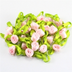 Ribbon Roses - Pink (50pcs)