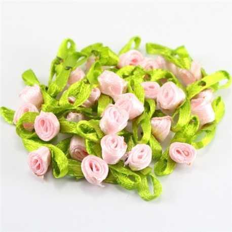 Ribbon Roses - Pink (48pcs)