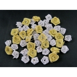Ribbon Roses - Metallic (50pcs)