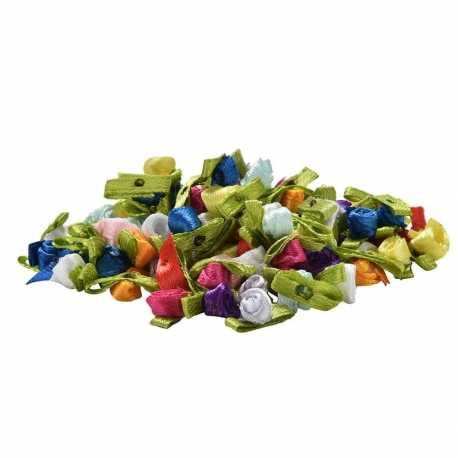 Ribbon Roses - Assorted (50pcs)