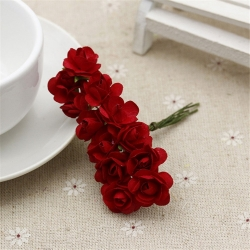 Paper Roses - Red (Bunch of 12)