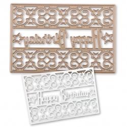 Printable Heaven die - Happy Birthday Panel (1pc)