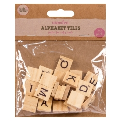 Wooden Alphabet Tiles - 30 Pack (U-80980)