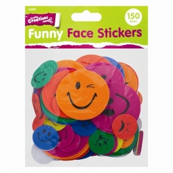 Funny Face Stickers - 150 Pack Product Code: U-80876