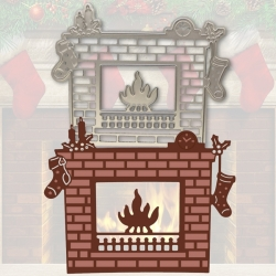 Printable Heaven die - Christmas Fireplace (1pc)