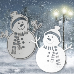 Printable Heaven die - Snowman with Twig arms (1pc)
