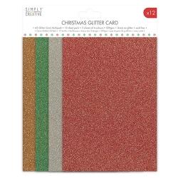 Simply Creative Christmas Basics Glitter Card pack (SCPCK005)