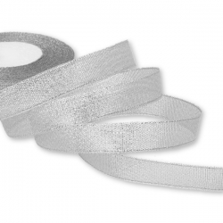 Metallic Ribbon - Wide Silver (15mm)