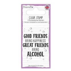 Dovecraft Clear Stamp - Great Friends Bring Alcohol (DCSTP140)