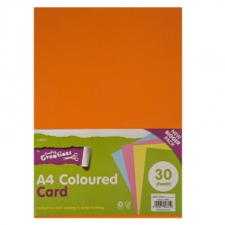 A4 Coloured Card - 25 Sheets Product Code: U-80631