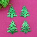 Padded Christmas Trees - Green (25pcs)