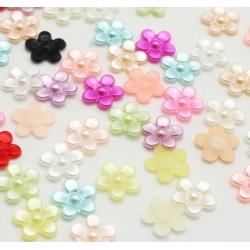 Flatback Pearly Flowers Multi (50pcs)