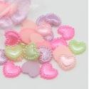 1cm Flatback Pearl Hearts - Pastel Multi (48pcs)