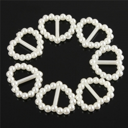 Heart-shaped Ribbon Sliders - Ivory (48pcs)