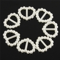 Heart-shaped Pearl Ribbon Sliders - Ivory (48pcs)