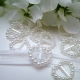 Heart-shaped Ribbon Sliders - White (48pcs)