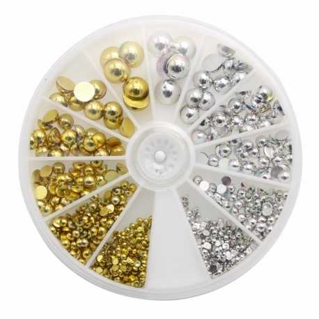 Gold & Silver Half-pearl Wheel (700pcs)
