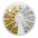 Large Gold & Silver Half-pearl Wheel (700pcs)