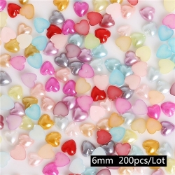 Flatback Hearts Multi, 6mm (200pcs)