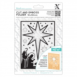 Cut & Emboss Folder - Nativity Star Aperture (XCU 503945)