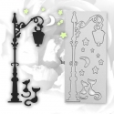 Printable Heaven die - Street Lamp & Cats (1pc)