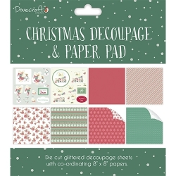Dovecraft Christmas Decoupage Pad – Green (DCDPG008X17)