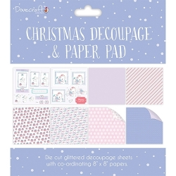 Dovecraft Christmas Decoupage Pad – Purple (DCDPG007X17)