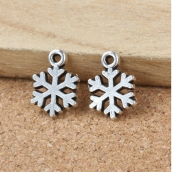 Metal Charms - Small Snowflakes (12)