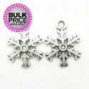 Metal Charms - Medium Snowflakes (10)
