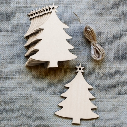 Wooden Christmas Trees (3pcs)
