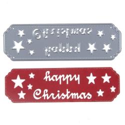 Printable Heaven die - Happy Christmas Banner (1pc)