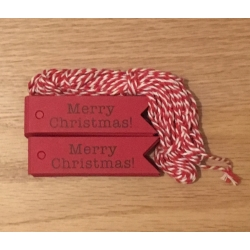 Merry Christmas Tags - Red (100pcs)