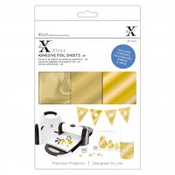 XCU 174419 Xcut Xtras' A5 Adhesive Foil Sheets (20pcs) - Gold