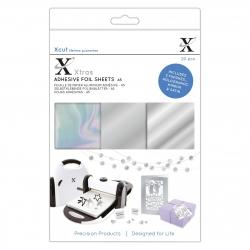 XCU 174420 Xcut Xtras' A5 Adhesive Foil Sheets (20pcs) - Silver