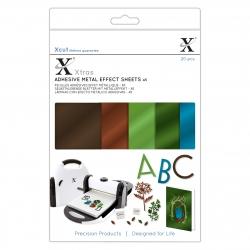 XCU 174421 Xcut Xtras' A5 Adhesive Metal Effect Sheets (20pcs) - Naturals