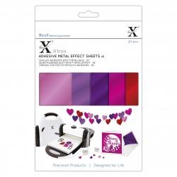 XCU 174422 Xcut Xtras' A5 Adhesive Metal Effect Sheets (20pcs) - Pinks
