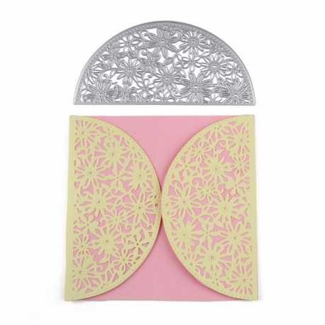 Printable Heaven die - Half-moon Card Edger, Flowers (1pc)
