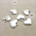 Metal Charms - Solid Hearts (10)