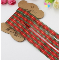 Tartan ribbon pack (3pcs)