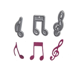 Printable Heaven dies - Music Notes (3pcs)