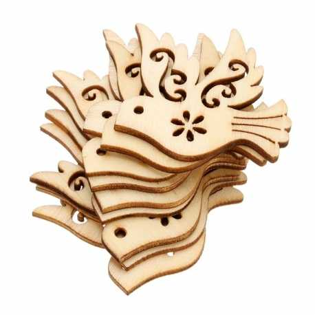 Wooden Birds (10pcs)