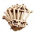 Wooden Mini Lamps (10pcs)