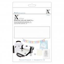 XCU 174423 Xcut Xtras' A5 Adhesive Vellum Sheets (15pcs) - White