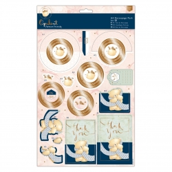 FFS 169044 A4 Decoupage Pack - Forever Friends - Opulent - Hello